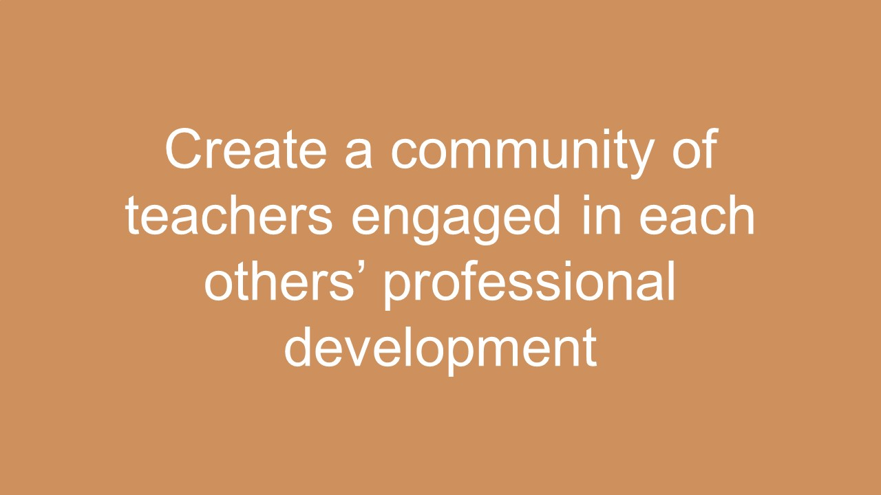 Createp rofessional learning communities